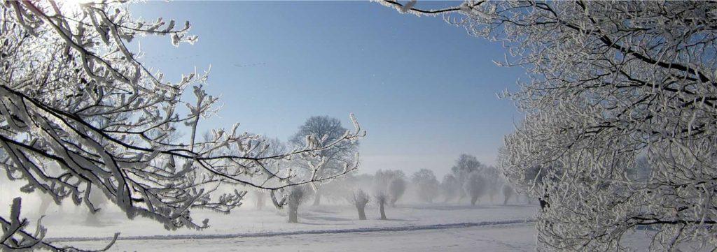 Winter im Landhaus in der Wische